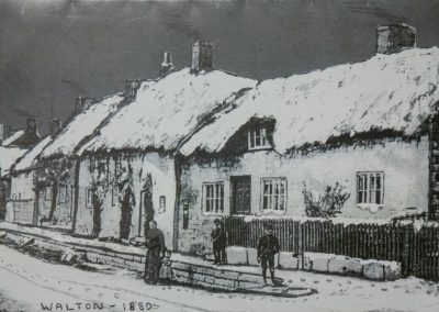 Photo of thatched cottages, Walton