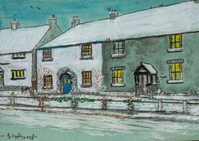 Painting of White cottage, Walton