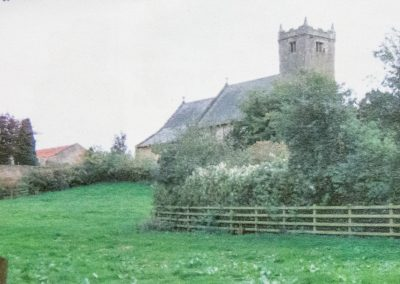 Photo with St. Peters church in the background, Walton