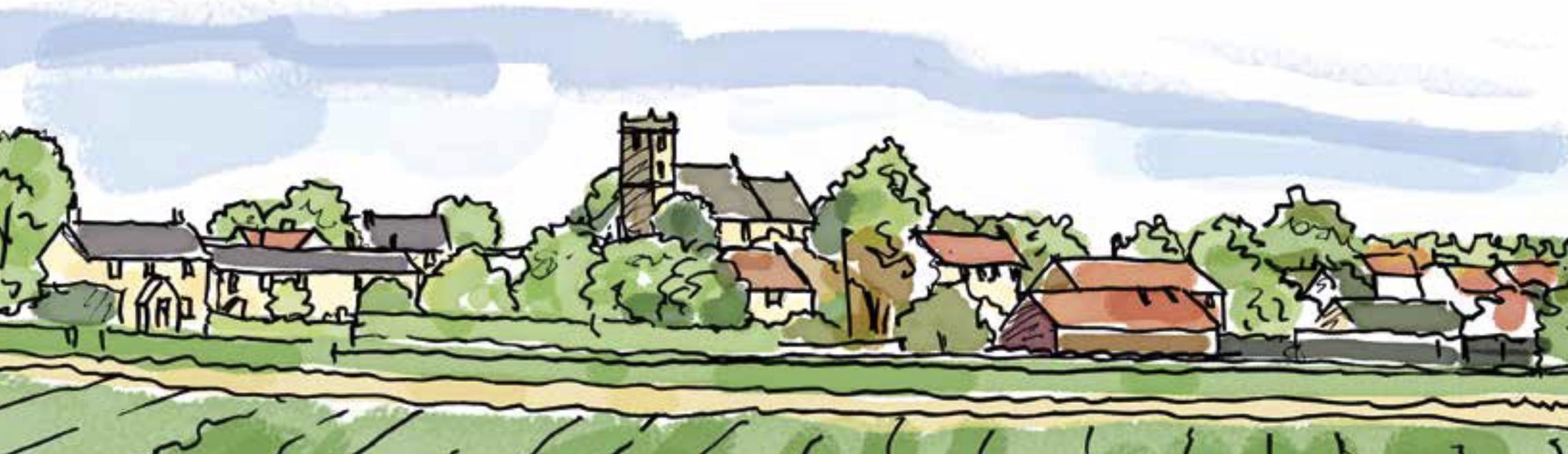 Walton Village an artists impression